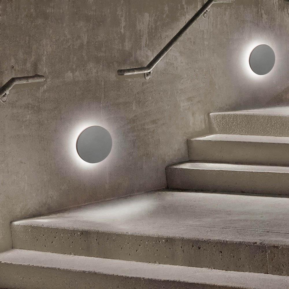 Nordique Vintage 3D lune éclipse mur LED lampe chevet lumière chambre salon allée porche applique luminaire mural décor Art