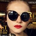 Linda Farrow Óculos De Sol Das Mulheres Designer Erdem Brand New Feminino Olho de Gato Óculos de Revestimento Oculos de sol Retro Moda Estilo Europeu