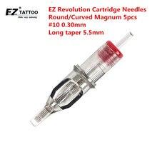 EZ מהפכה מחסנית קעקוע מחטי מעוקל מגנום #10 0.30mm ארוך להתחדד 5.5mm עבור מחסנית מכונת ואוחז 5 יח\חבילה