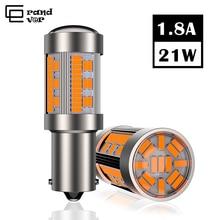1 قطعة T20 LED 7440 W21W 4014 105SMD في Canbus لا Hyperflash 1156 BA15S P21W LED PY21W BAU15S LED مصباح ل عكس بدوره مصباح إشارة