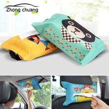 Мультяшный тканевый автомобильный подвешивающий мешок для бумажных полотенец контейнер полотенце мешок для бумажных полотенец сумка для хранения
