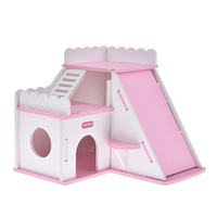 Luxury Hamster Cage Small House Ventilated Breathable Removable Mediterranean Nest Ecological Board Hedgehog Golden Bear House