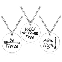 Fashion Wild Free Charm Pendant Arrow Necklace For Women Retro Men And Inspirational Metal Jewelry Shipping