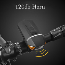 ROCKBROS Bicycle Light USB Rechargeable 350 Lumen LED Bike Front Light Wireless Turn Signals Bicycles Lamp 120db Cycling Bell motorcycle signal lamp rechargeable cycling light 5000 lumen 8 4v bicycle bike led front rear lamp set