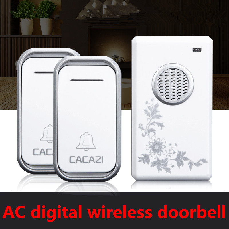 2 transmitters+1 receiver High Quality home DoorBell Waterproof 200m work range Mini Wireless Door bell 38 Ring tunes for choose new high quality wireless waterproof door bell 36 music melody 300m doorbell 3 transmitters 3 receiver home doorbells