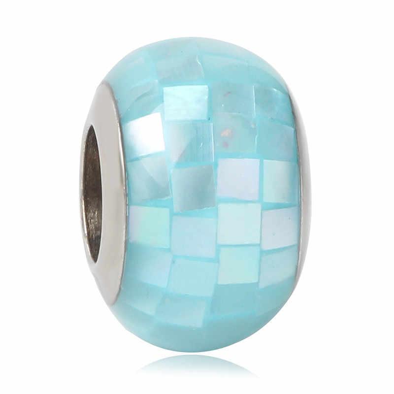 2019 จัดส่งฟรีใหม่ Mickey 925 Silver Murano Glass สีสันสดใส DIY เครื่องประดับลูกปัดเหมาะกับ Pandora Charm Bracelets