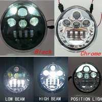 1pcs LED Headlight High Low Beam For Harley Davidson VRSCA V Rod VRod 02 16 Motorcycle Aluminum Headlight