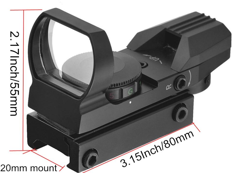 Hunting-Scopes-Optics-Red-Green-Dot-Sight-Scope-Sniper-Pistol-Airsoft-Air-Guns-Reflex-4-Reticle