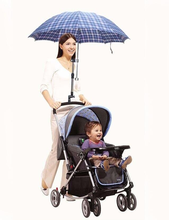 Black 360 Degree Baby Stroller Umbrella Holder Mount