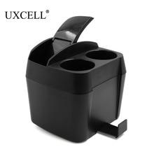 Uxcell черный Пластик Мусорные корзины для автомобилей мусора контейнер для хранения чашки ткани Box держатель