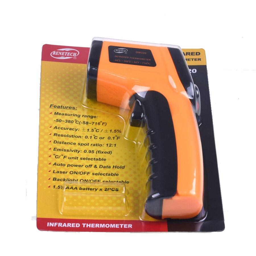 kualitas tinggi gm320 infrarot pirometer termometer laser messer 50