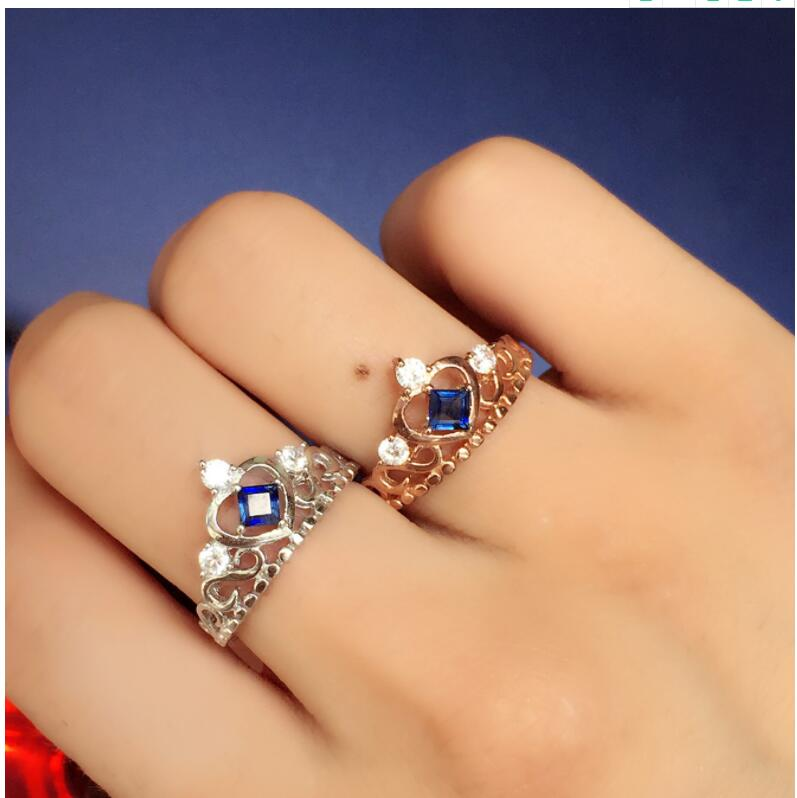Natural real blue sapphire ring 925 sterling silver Fine handworked jewelry Gem Size 3mm цена