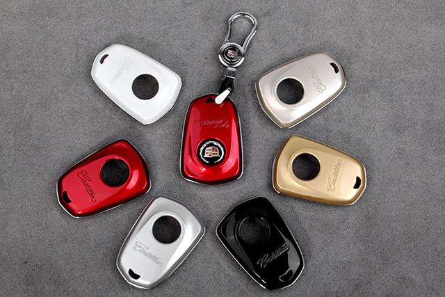 1 protección Unidades para Cadillac Coche clave remoto caso de shell key caso de la cadena cadena clave para 2015 Cadillac CTS XTS ATS SRX