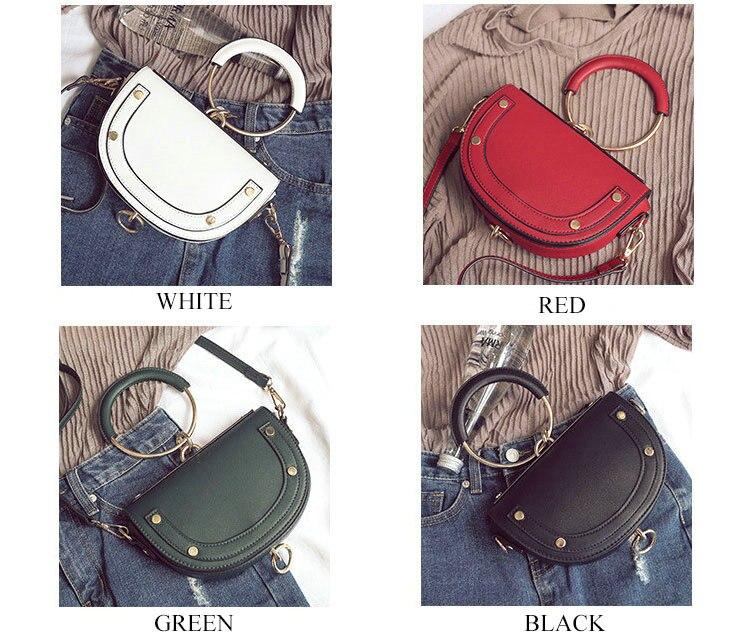 Detail Feedback Questions about Rdywbu Metal Ring Rivet Shoulder Bag ... 1b5fb5eb70d0a