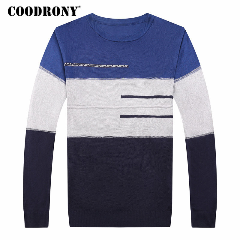 COODRONY Sweater Men Casual O-Neck Pullover Men Clothes 2018 Autumn Winter New Arrival Cashmere Wool Sweaters Thin Pull Homme 52