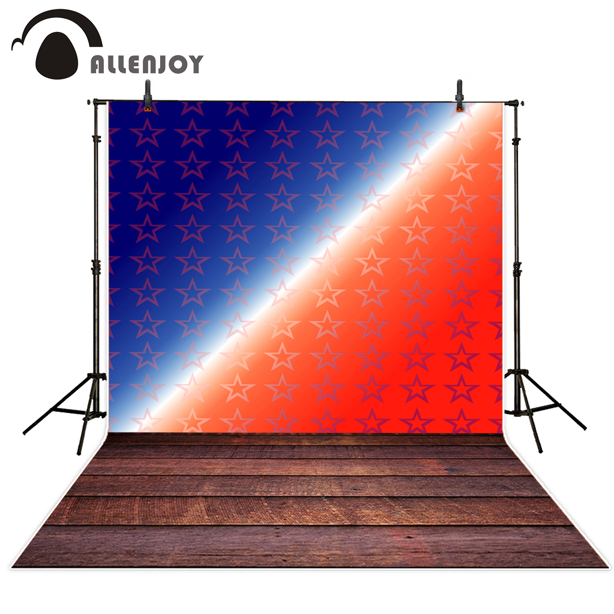 Allenjoy photographic background Blue red star dreamy American Independence Day Background for font b photo b