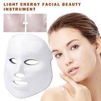 Photon Electric Face Mask LED Machine Skin Care Light Therapy Acne Mask Neck Acne Remover Beauty Facial Led Mask Tool