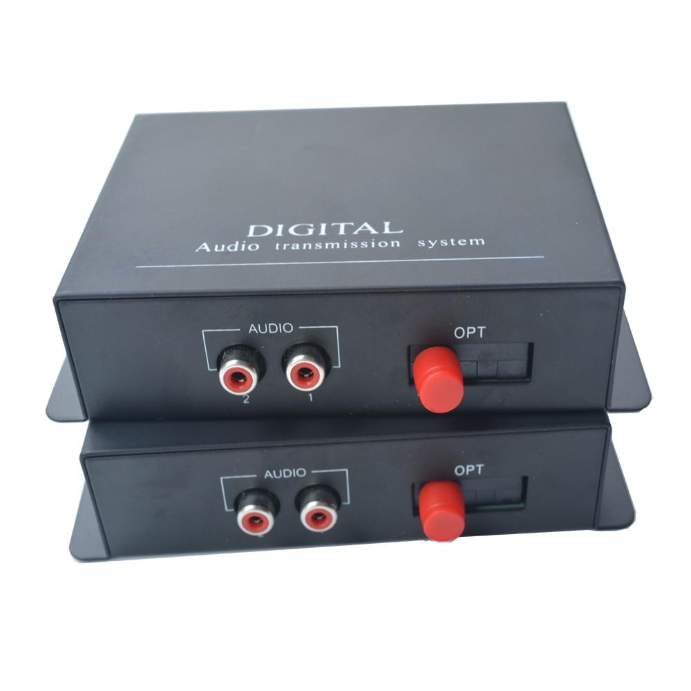 High quality 2 Channel Hi Fi Audio Fiber Optical Media Converter Transmitter Receiver 1PairHigh quality 2 Channel Hi Fi Audio Fiber Optical Media Converter Transmitter Receiver 1Pair