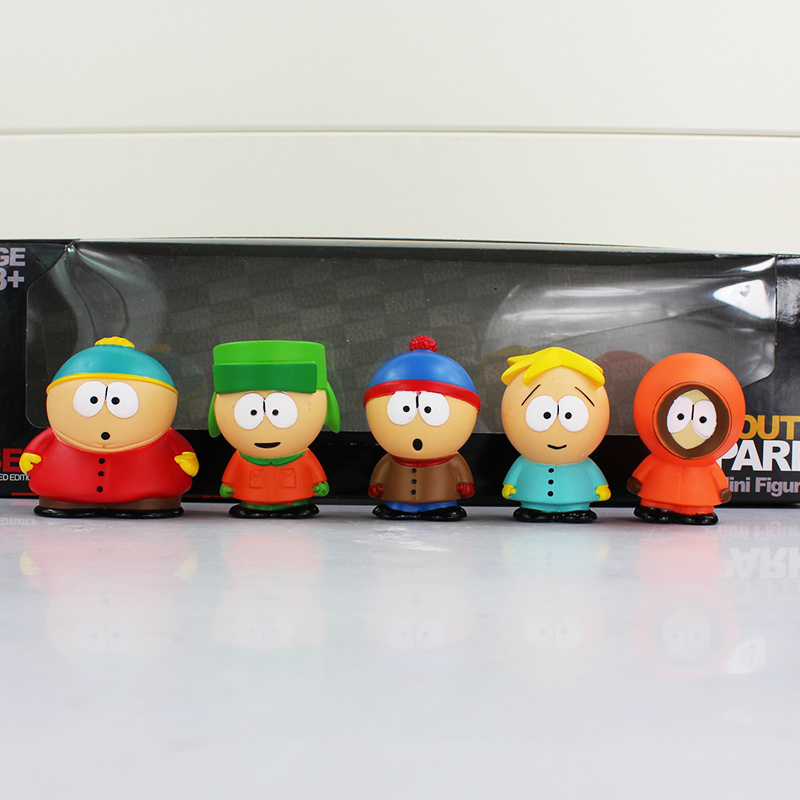 2 Lots Cute PVC South Park Figure Mini Display Action Figure Toys Doll With Box Free Shipping