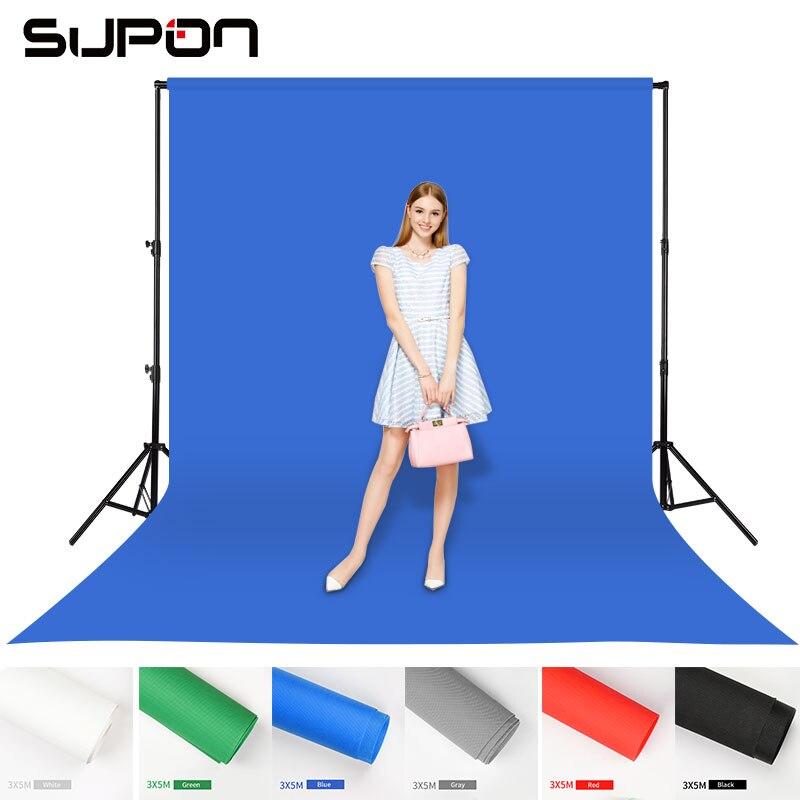 3x5 m Non-Tissé Tissus Toile de Fond Écran Chroma key Fond Toile de Fond Tissu pour Studio Photo éclairage 6 couleurs Options