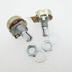 5 unids/lote WH148 B1M potenciómetro lineal 15mm eje con tuercas y arandelas caliente 3Pin de alta calidad