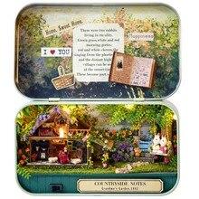 Mini Doll House Assemble Kits Funny Countryside Notes 3D Wooden DIY Handmade Box Theatre Dollhouse Miniature Box Cute Toys