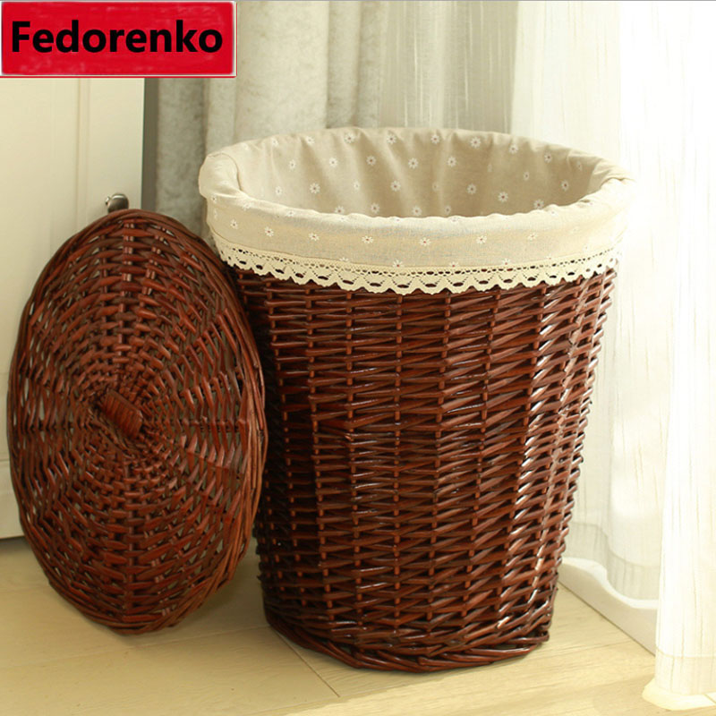 Aliexpress.com : Buy Natural Wicker Laundry Storage Baskets Box Home  Bathroom Decoration Square Small Large Wicker Storage Baskets With Lids  Wasmand From ...