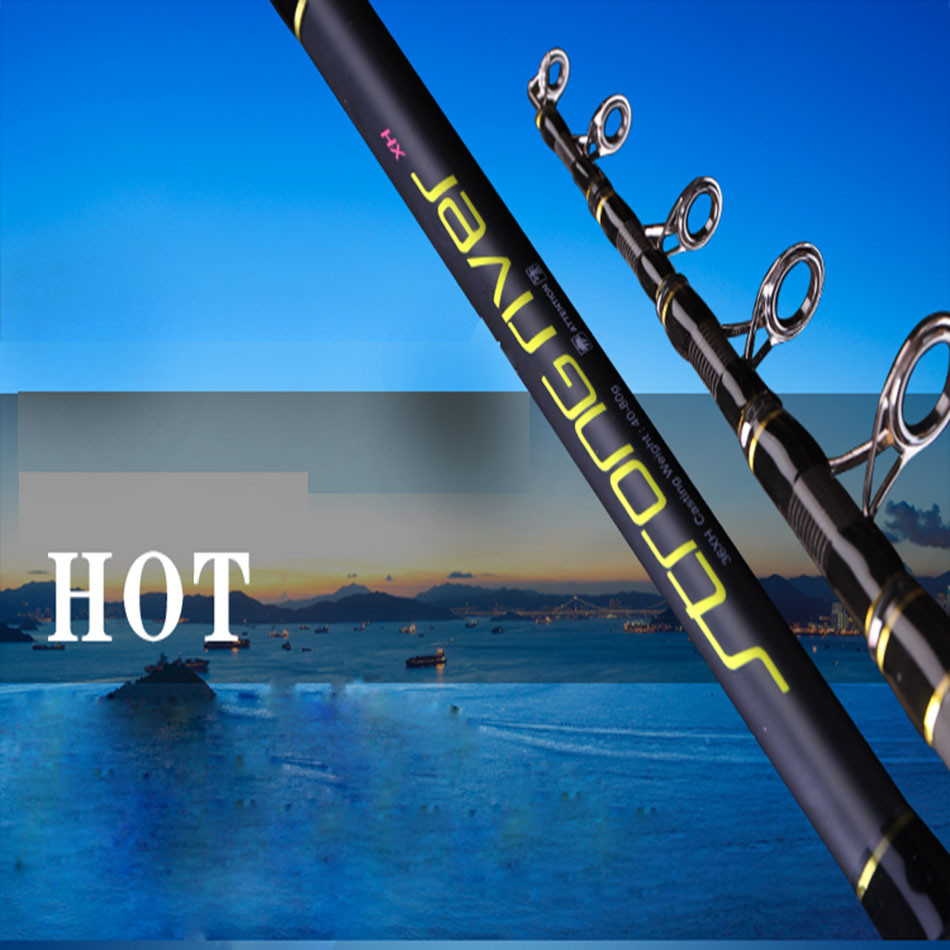 2pcs/pack 2.4/2.7/3.0/3.3/3.6M telescopic fishing rod Ultra hard power high carbon fiber rod Far shot sea beach long casting rod цена 2017