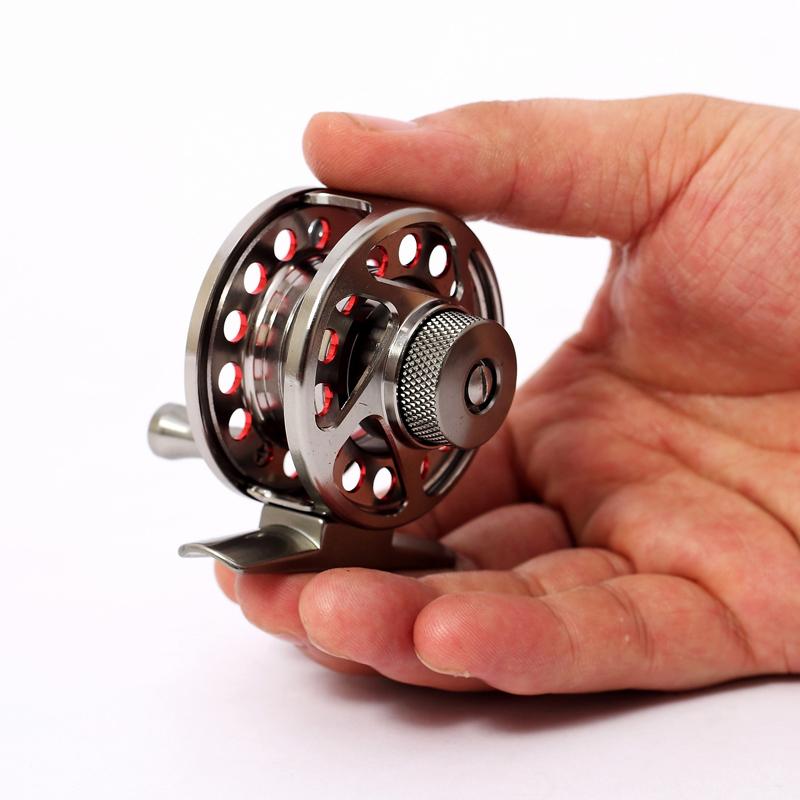 Metal Fly Fishing Reel Ultra-light 4000-6000 Mini Portable 3Bearing Balls Fishing Reel Metal Left/Right Handle Durable Fly Reels