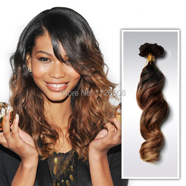 New Ombre Hairstyles One Piece Hair Extension 5 Clips Clip In On