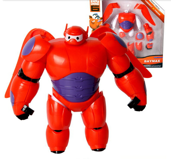 6 Inch/16CM Big Hero 6 Baymax Robot Action Figure Cartoon Movie Baymax Removable Armor 2015 New Holiday Gift Kids toys image