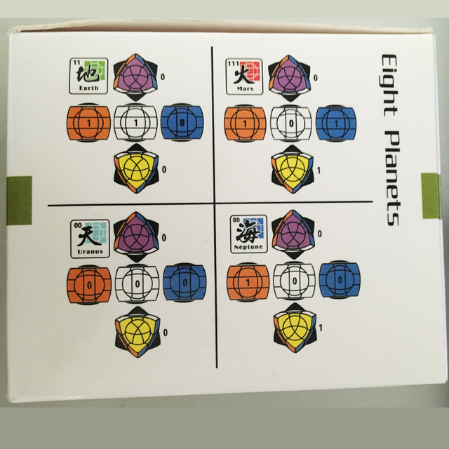 New arrival!Dayan Crazy Pentahedron Puzzle Magic Cube Twist Toys Neptune,Uranus, Earth Da Yan MF8 Eight Planets