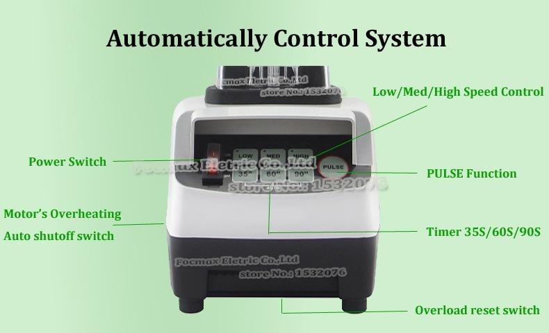 EU/UK/US/AU Plug 3HP 2200W BPA Free 2L Digtial Automatical High Speed Electric Blender Mixer Food Processor Fruit Juicer