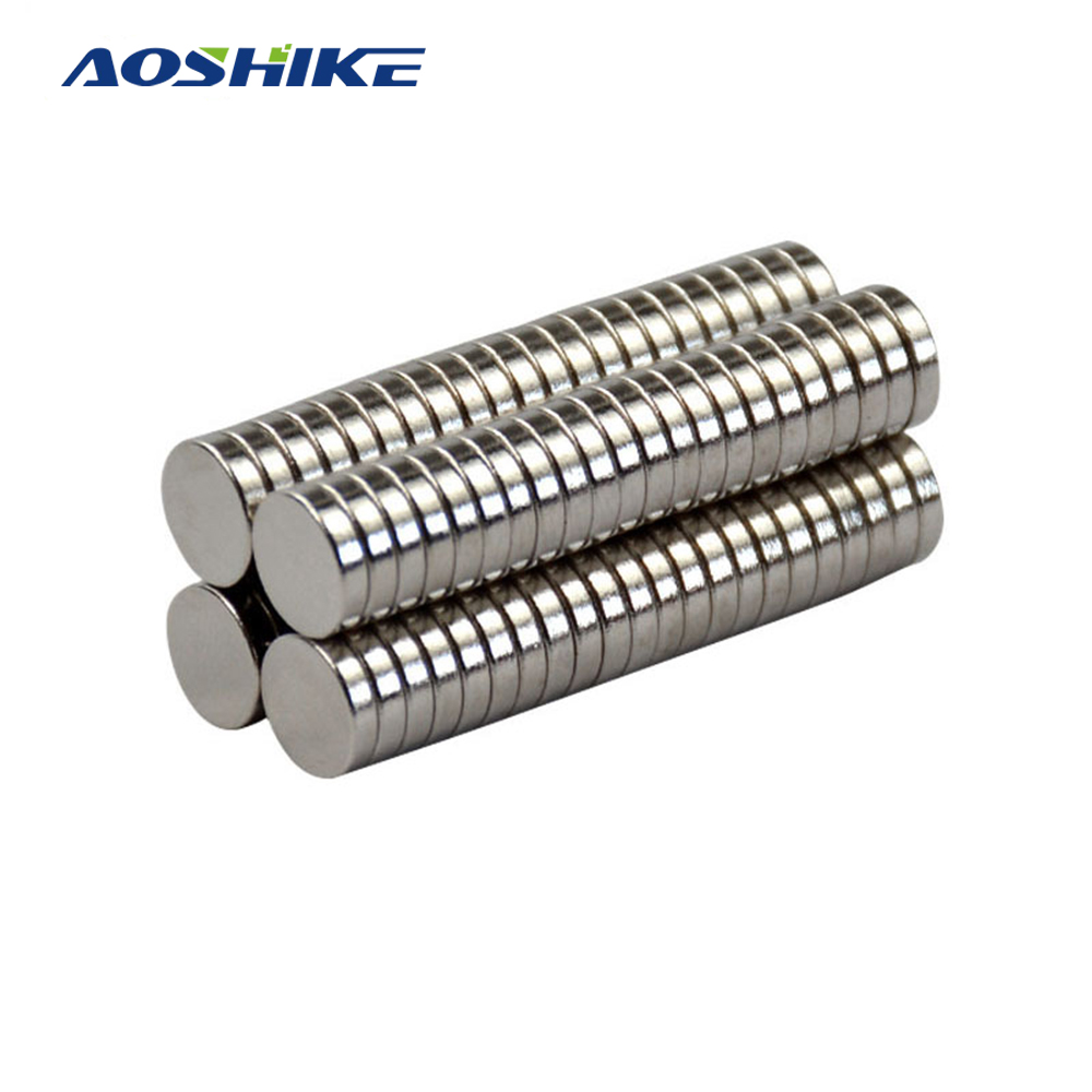 Aoshike 100pcs Mini N35 8*2mm Round Disc Magnets 8mm*2mm Rare Earth Magnet NdFeB Strong Magnetic Magnetite Super Magnets 8x2 magnetite magnetite filter water treatment filter magnetite powder