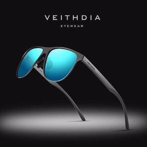 Image 1 - VEITHDIA ماركة مصمم للجنسين الفولاذ المقاوم للصدأ TR90 الرجال النظارات الشمسية الاستقطاب UV400 عدسة نظارات شمسية للنساء gafas دي سول 3920