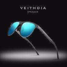 Солнцезащитные очки унисекс VEITHDIA, брендовые дизайнерские очки из нержавеющей стали и пластика TR90 с поляризационными стеклами, степень защиты UV400, для мужчин и женщин, модель 3920, 2019