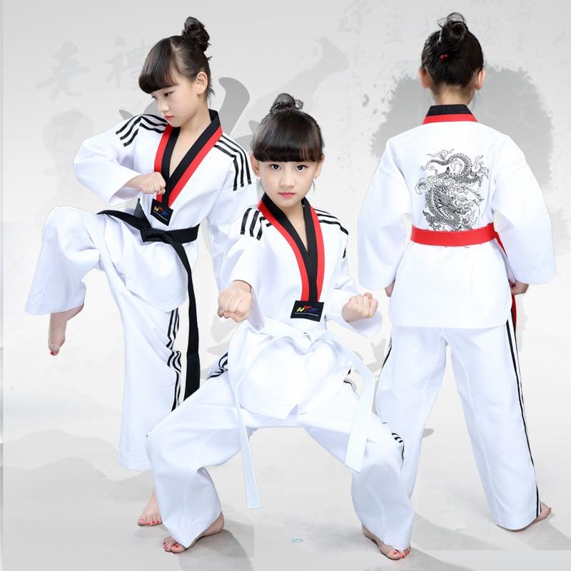 Professzionális gyermekek, taekwondo ruházat harcművészet harcművészeti egyenruhák harcművészetek fiatalkorú Taekwondo színpadi jelmezek