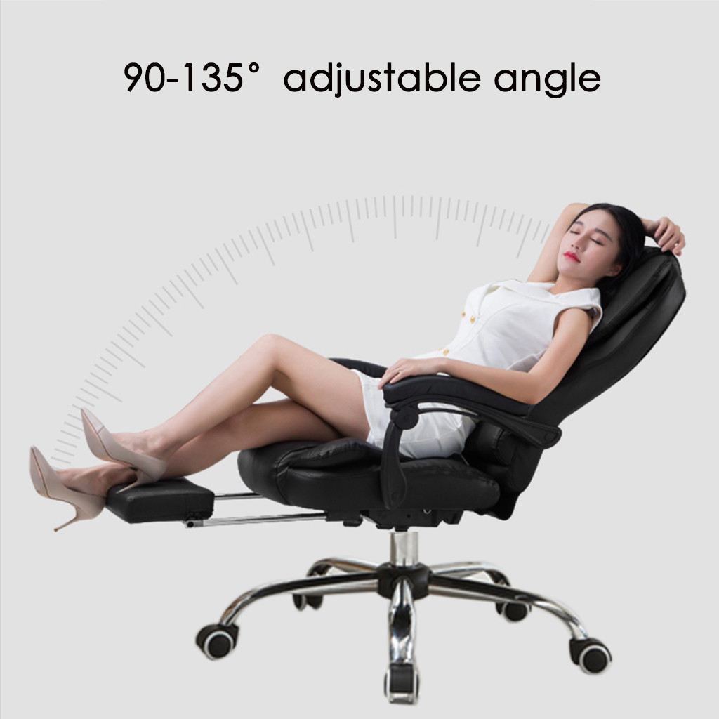 Office Chair Leather Desk Gaming Chair With Massage Function  Adjust Seat Height Office Stool Chair  Styling Cotton Home Family