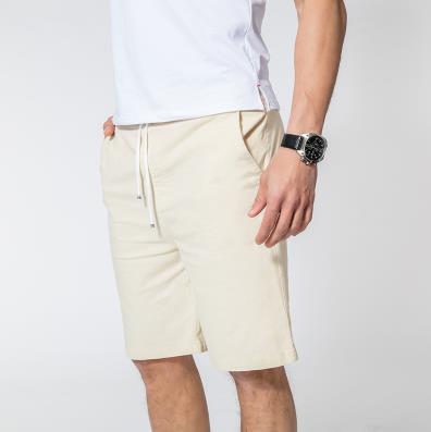 Мужские летние плюс Размеры эластичный пояс середине Повседневное Капри прямого кроя человек дышащий Лен свободные штаны Для мужчин более Размеры d обтягивающие брюки - Цвет: 1