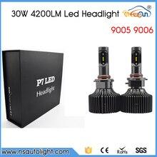 P7 30W 4200lm 9005 9006 HB3 HB4 Car LED Headlight Auto Front bulb LED Head lamp 6000K 12V 24V White