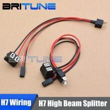 2 stück 12V 35W H7 Hohe Strahl Splitter Relais Harness HID Bi-xenon Adapter Kabel Drähte Für getrennt Hohe Strahl Scheinwerfer Nachrüstung