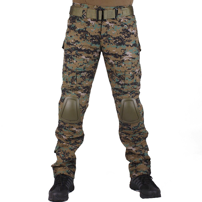 все цены на Camouflage military Combat pants men trousers tactical army pants with Removable knee pads Jungle Digital