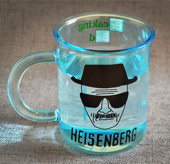 Breaking Bad Heisenberg Mug Blue Graduated Glass Measuring Cup Coffee Tea Milk Mugs Creative Cups Gift Collectible Collection