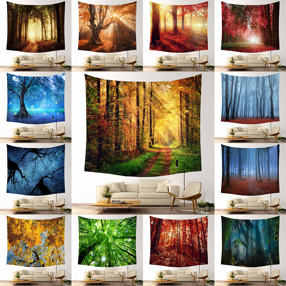 Decorative Mandala Forest Wall Hanging Tapestry Bohemian