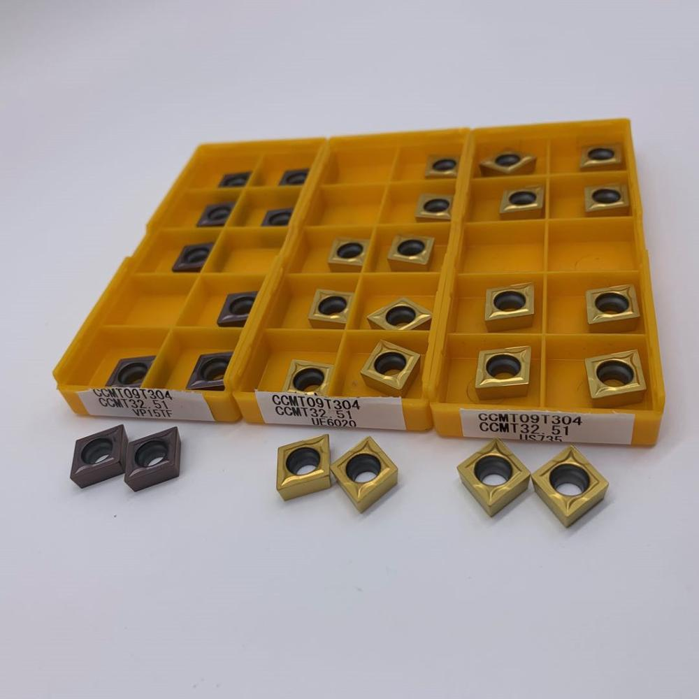 10 pièces CCMT09T304 VP15TF/UE6020/US735 outils de tournage internes carbure insère outil de coupe outils de CNC outils de tour tour cutter