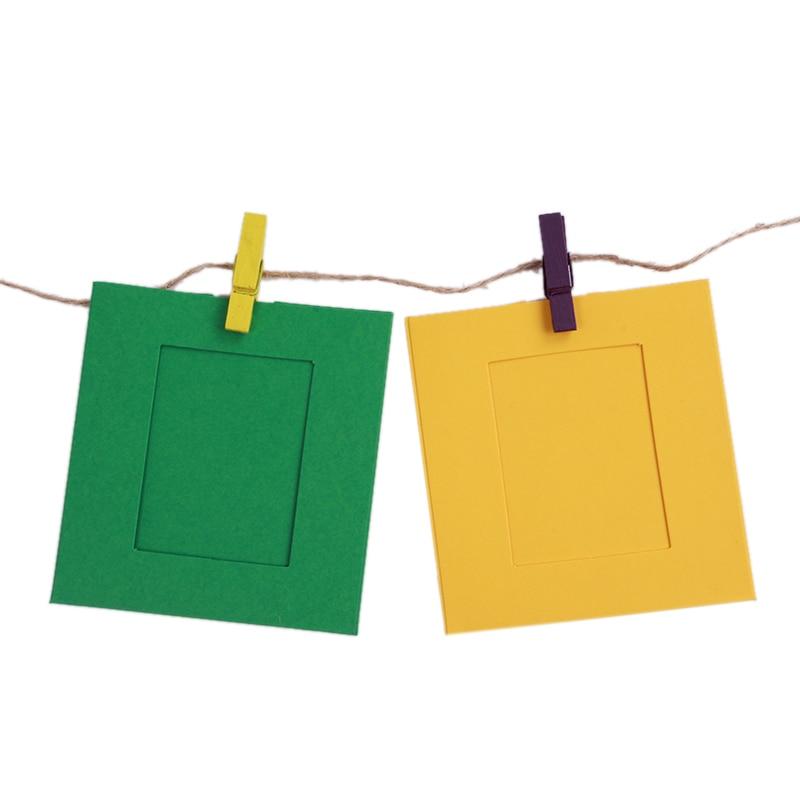 10 teile/los 3 zoll Bunte DIY Quadrat Bilderrahmen Wand Hängen ...