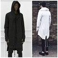 Projeto Original 2016 Nova Moda dos homens hoodies casaco cauda de andorinha cardigan hiphop streetwear dos homens com capuz preto casaco outerwear oversize