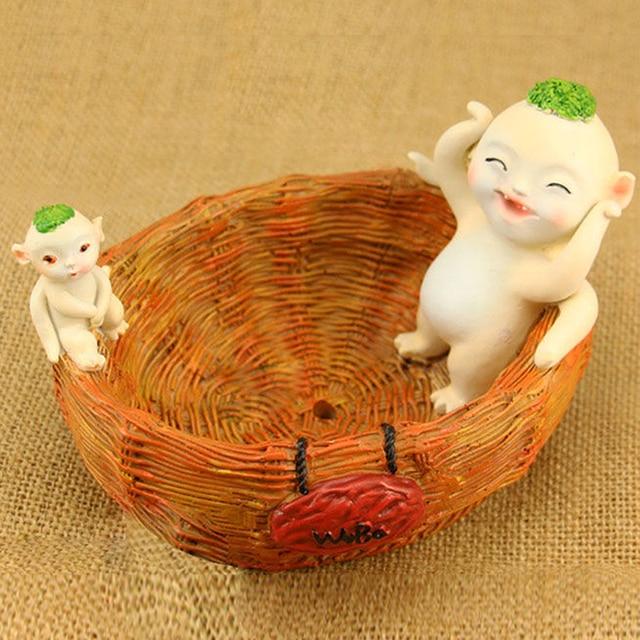 Cartoon WuBa Doll Resin Succulent Mini Flower Pots Decoration Small ...