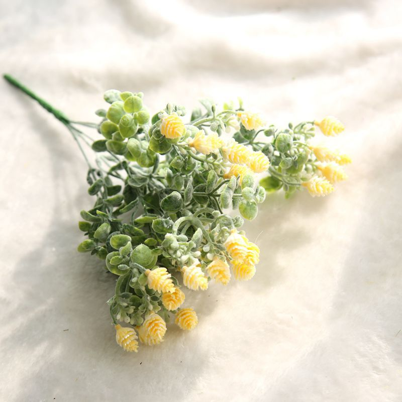 1 Demet Yapay Çiçek çam kozalağı Buket Akın Plastik Kırsal - Tatiller ve Partiler Için - Fotoğraf 6