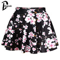 DayLook 2017 Floral Print Mini Skirt High Waist Tutu Pleated Skirt Galaxy Pattern Tie-Dye Short Harajuku Saia Flare Slim Wear